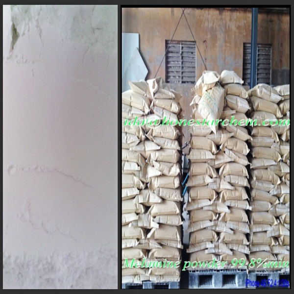 China Melamine 99.8%min Powder for Melamine Formaldehyde Resin Price