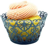 Lavish Ivory Swirl cupcake wrappers cake decoration