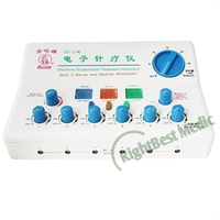Hwato Electro Acupuncture Stimulator 6 Channels Output Nerve and Muscle Stimulator Electronic Acupuncture TENS Machine CE