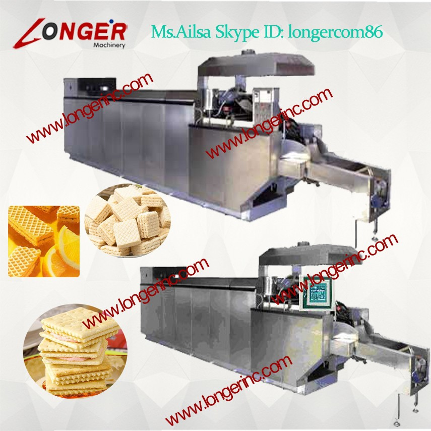 Wafer Baking Oven Type and Biscuit Usage Complete Full Automatic Wafer Biscuit Making Machine Production line