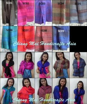 Thai Silk Ladies Scarves