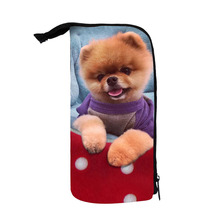 Custom design fashion Cute pets print polyester Pencil case bag for kids Students Teens school Colleagues