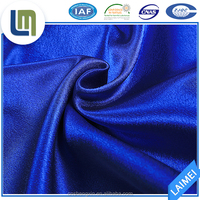 High quality pure colour satin fabric textile