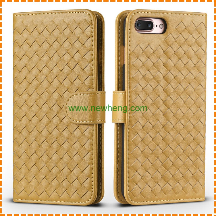 Knitting Pattern Leather Case for iPhone 7 7PLUS, Handmade Phone Case Cover for iPhone 7 7plus