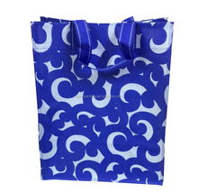 Custom Cheap Blue Totem Fancy Recyclable PP Woven Tote Gift Bag