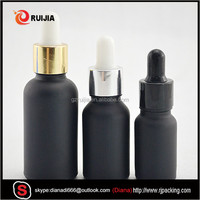 matte black e-liquid 1 oz glass bottles 30 ml glass bottle empty dropper bottle with dropper