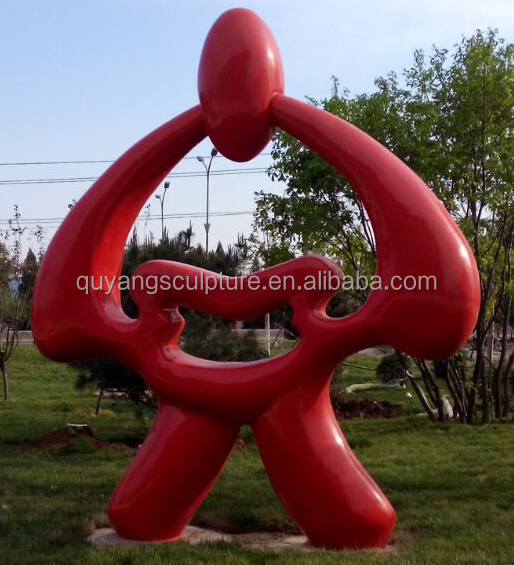 Large Outdoor Modern Abstract Stainless Steel Garden Sculpture