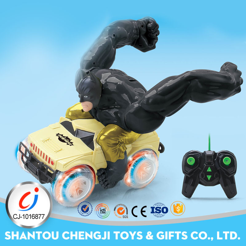 Popular plastic remote control stunt rolling car for kids