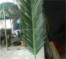 2.4m tall china factory direct sale fake palm leaf top sale Artificial palm plastic leaf/branch