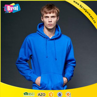 OEM wholesale 100% cotton plain cheap pullover hoodie from China