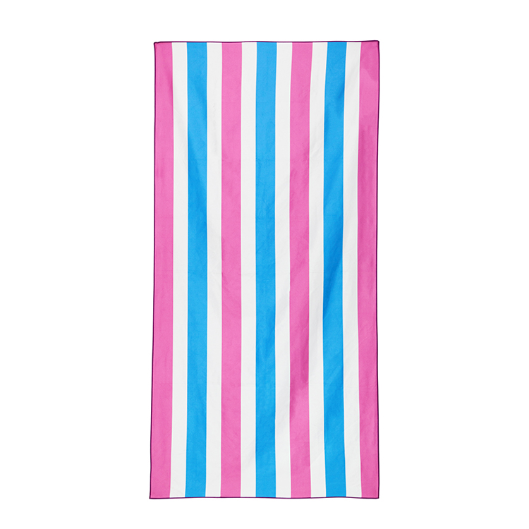 Promotional quick drying suede microfiber printed beach towel