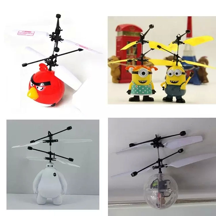 Cute Mini Sensor Control Indoor RC Helicopter Aircraft Upgrate-Classic Electric UFO Bird Ball Flying Toys Drone Children's Toy