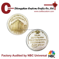 Custom gold and silver metal challenge coin