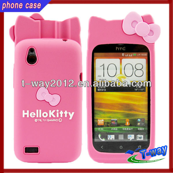 Hello kitty htc cartoon silicon case for T328W