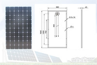 156*156 cells and easy install 255w poly solar panels production