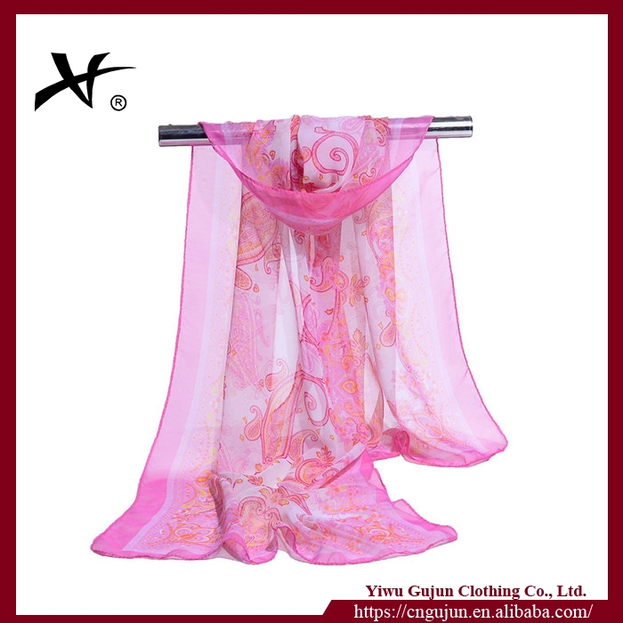 Summer latest beach blank silk scarves wholesale