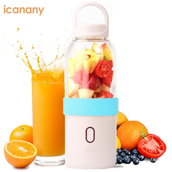 Hot sale 6 blades electric mini travel new portable usb blender with joyshaker BPA free,model number:IC771