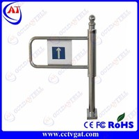 Stainless steel manual bi-directional mechanical supermarket turnstile intelligent automatic swing gate security barrier