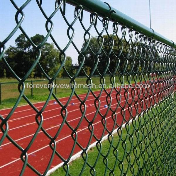 China manufacture PVC coated green chain link fence