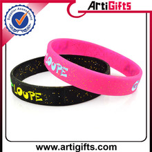 Promotional gifts embossed printed silicon wristband
