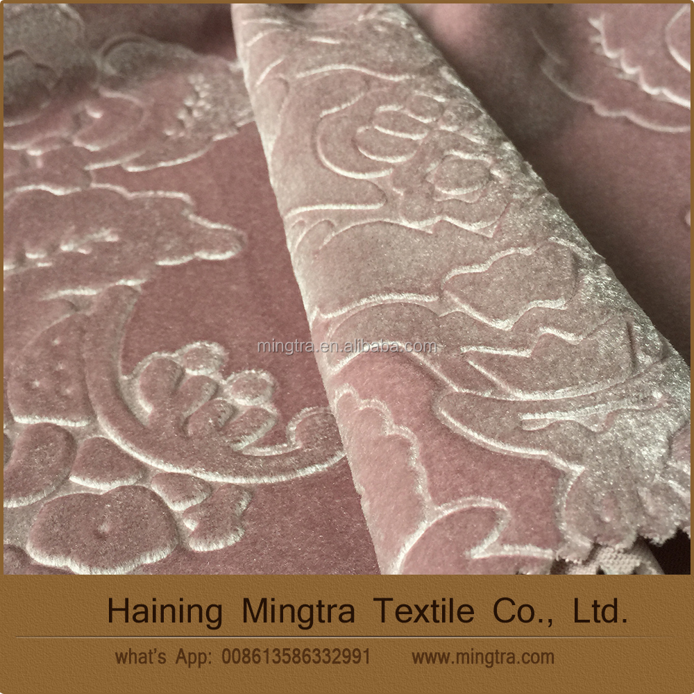 new design polyester shiny embossed velvet hometextile
