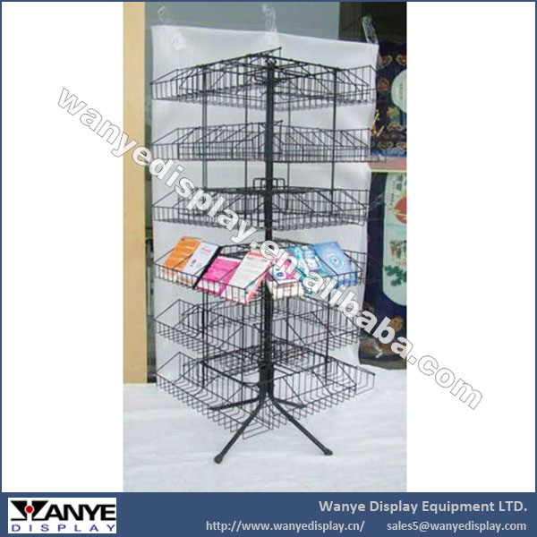 Cusotmized Rotating Audio-video CD Store Fixture Rack