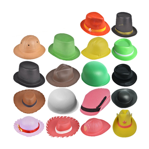 New Wholesale Carnival Party Colorful Plastic EVA Foam Rubber Kids Toy Sun Hat and Cap