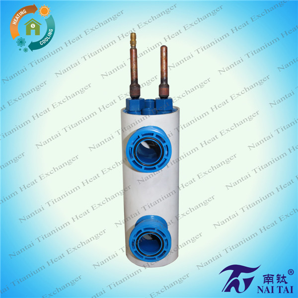 1/2 Ton Highly Effective Convoluted Titanium Tube in Shell Heat Exchanger/Condensor