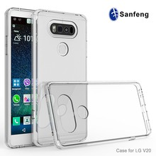 2 in 1 Soft TPU Bumper Protective Mobile Phone Cover Case for LG V20