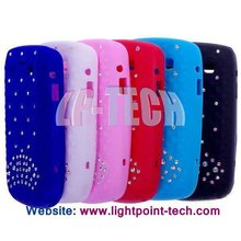Silicone diamond crystal case for blackberry