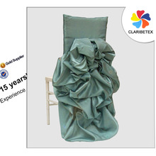 Elegant Turquoise Dupioni Silk Diana Wedding Chair Cover