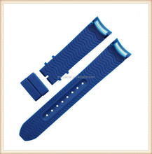 Elbow End Silicone Rubber Integrated Watch Bands Replacement