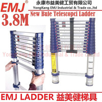 NEW 3.8 M TELESCOPIC ALUMINIUM FOLDING MULTI PURPOSE EXTENDING CLIMB STEP LADDER