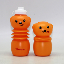 Kid cartoon Carrying Water Bottle / Plastic Readily Cup Water Bottle For Children