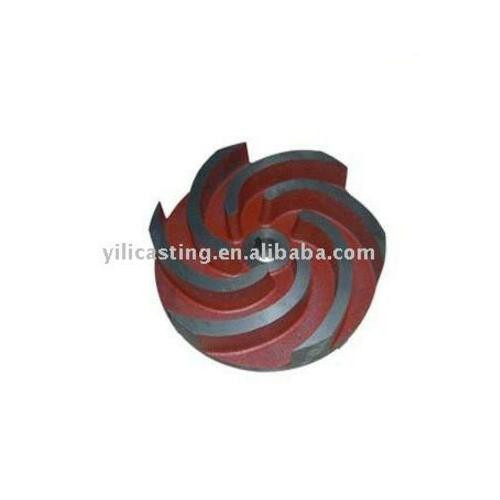 impeller machining part ductile iron casting sand casting