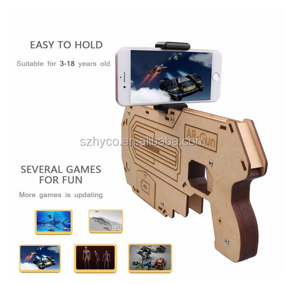 Latest bluetooth shooting game player AR game toy gun