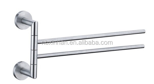 Modern bathroom designstainless steel Swivel towel bar,extension towel bar