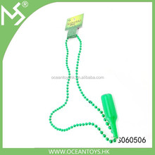 Latest design plastic green beads necklace
