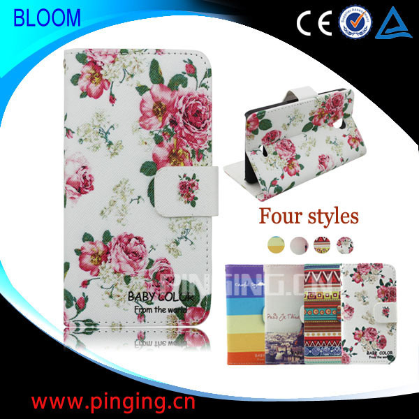 Hot Sale Printed Cell Phone Stand Wallet Flip Leather Case Cover for Wiko Bloom