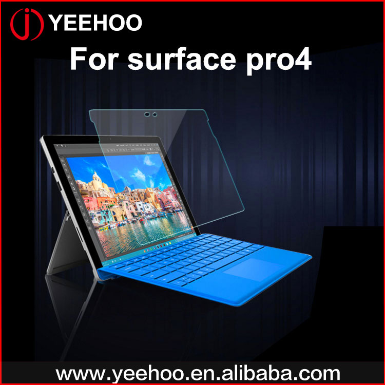 2.5D 9h hardness tempered glass screen protector for surface pro 4