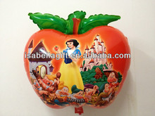 Helium Foil Apple shaped Balloon with beauty for christmas deciration