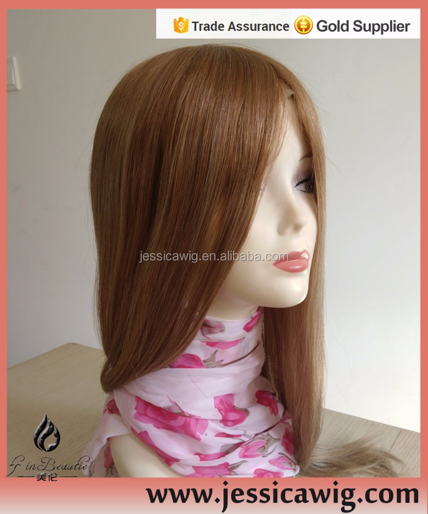 India human hair blonde toupee for women
