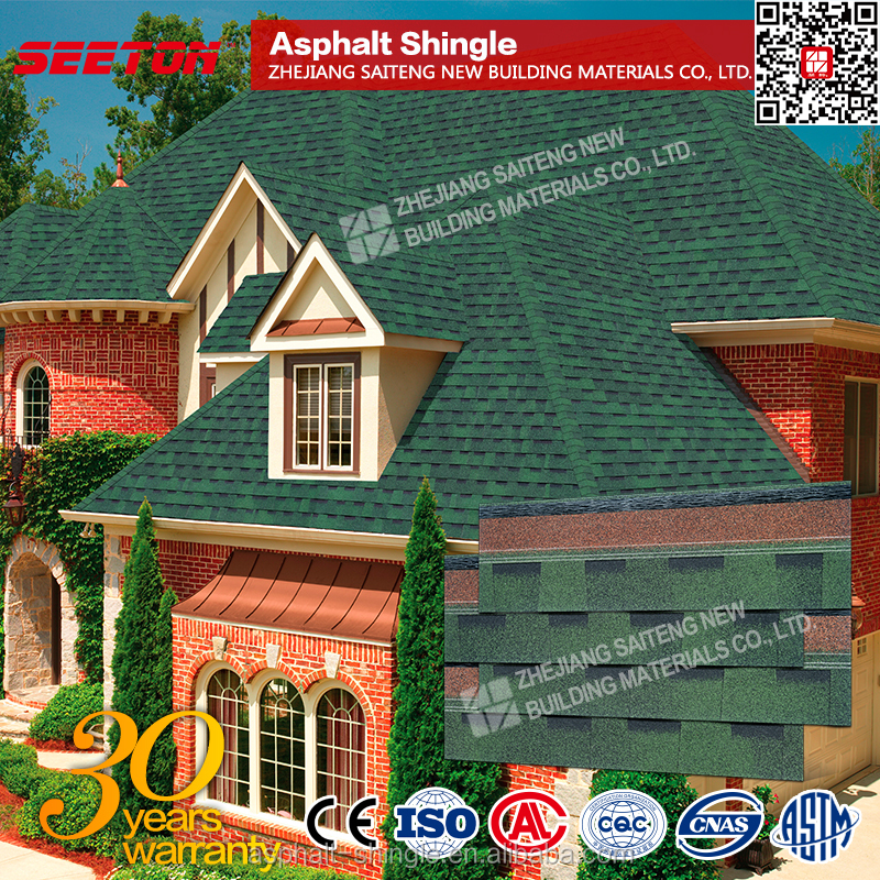 Building Construction Laminate Roofing Shingles , Fiberglass Roofing Materials