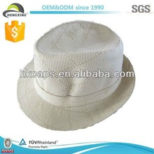 New style cheap blank folding straw hat for 2013 summer