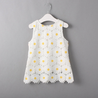 Fashion Flowers Summer Breathable Short Girl Frock Dress