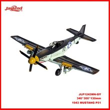 1943 Grey Mustang P51 Airplane Model 1:36-SCALE