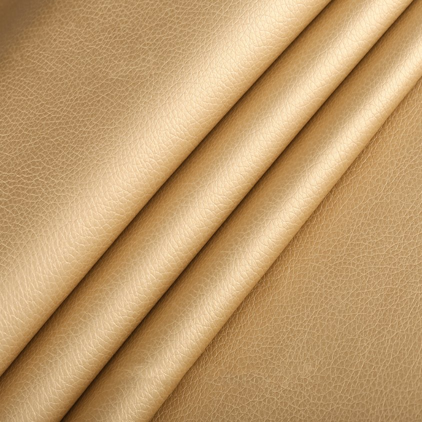 Hot Sale Litchi Grain 100% PU Synthetic Leather for Sofa (HS-Y147)