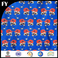 Factory custom design high quality digital printing dacron cotton fabric