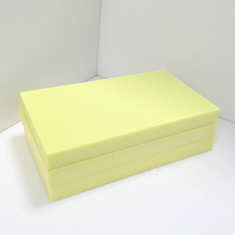 Heating Insulation Materials FUDA Extruded Polystyrene XPS Foam Board B2 Grade 250kPa Skin-On Yellow 20mm Thick