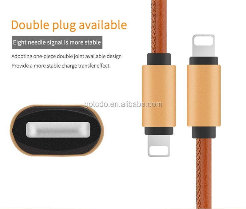 lustrous 2 in 1 data cable charging cable mobile auto data link cable